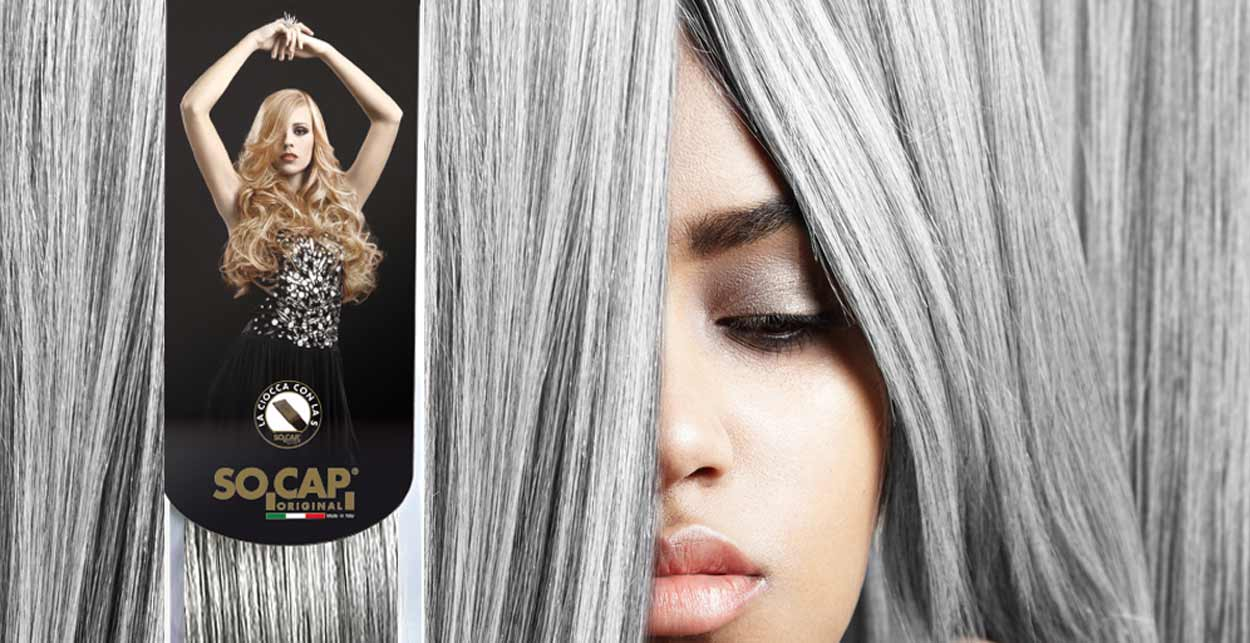 grey hairextensions extensions