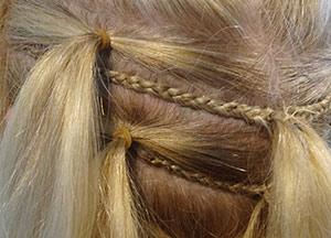 hairweave met vlecht plaatsen